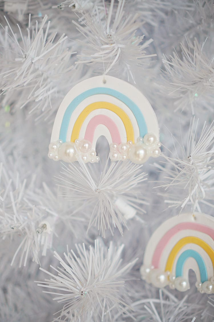 Clay DIY Rainbow Christmas Ornaments - 1