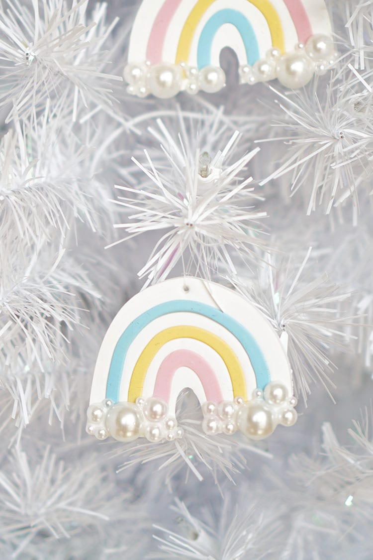 Clay DIY Rainbow Christmas Ornaments - 2