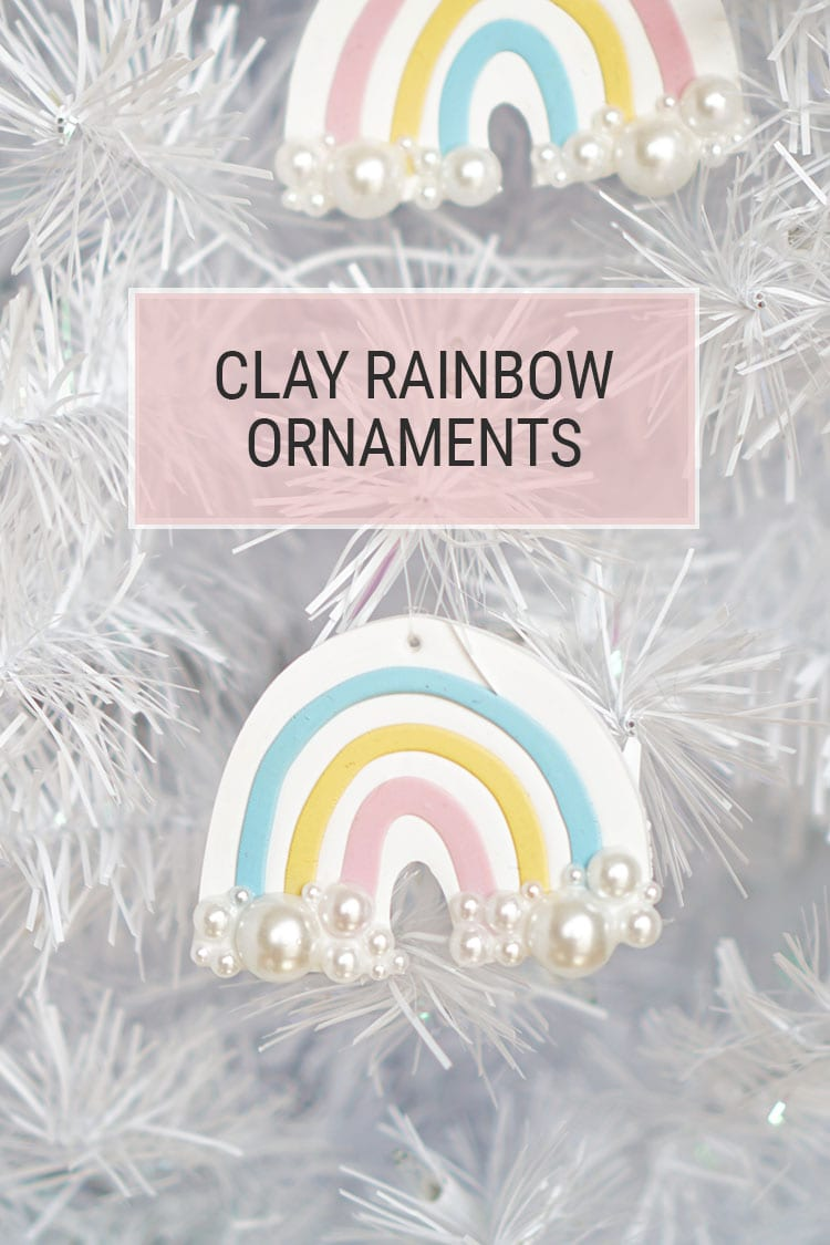 Polymer Clay DIY Rainbow Christmas Ornaments