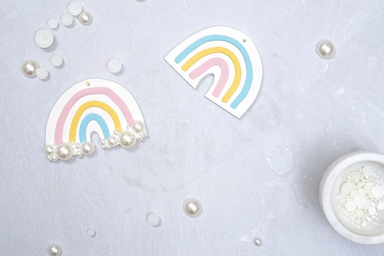 Clay DIY Rainbow Christmas Ornaments - Step 5