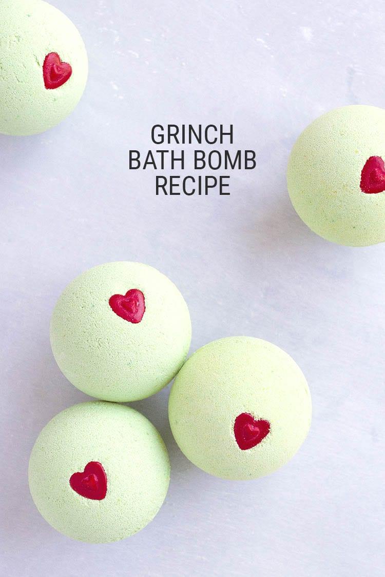DIY Grinch Bath Bomb Recipe 1
