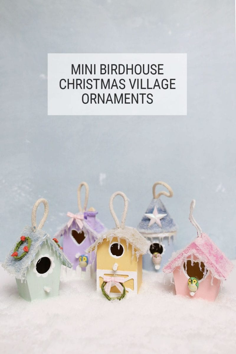 Mini DIY Christmas Village Ornaments