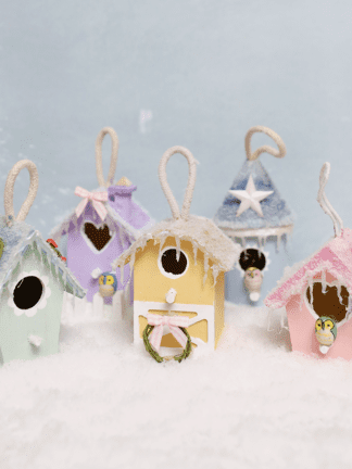 Mini DIY Christmas Village Ornaments thumbnail