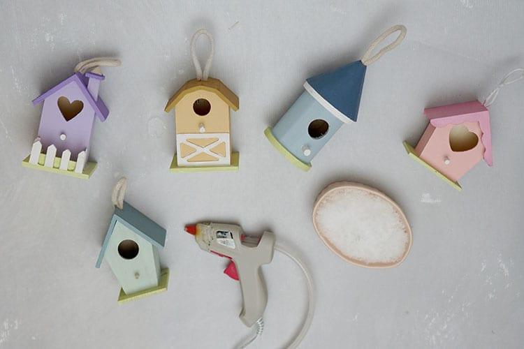 Mini-Birdhouse-Christmas-Village-Ornaments---Step-1