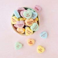 DIY Conversation Heart Valentine's Day Bath Bombs