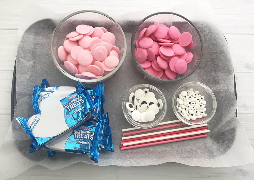 Ingredients for Valentine Rice Krispie Treats Recipe