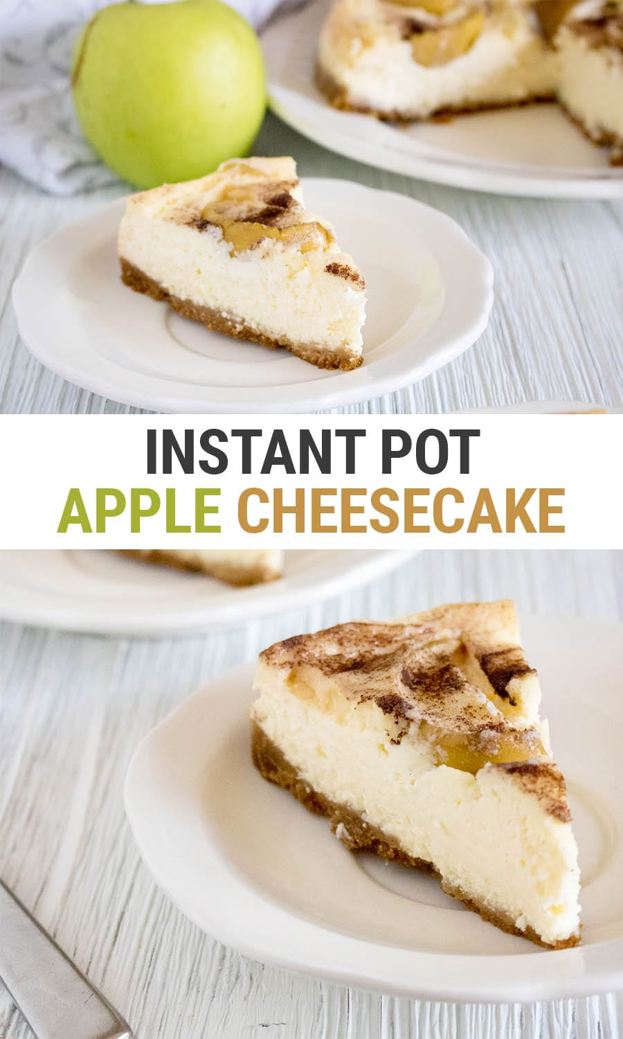 Instant Pot Apple Cheesecake Recipe