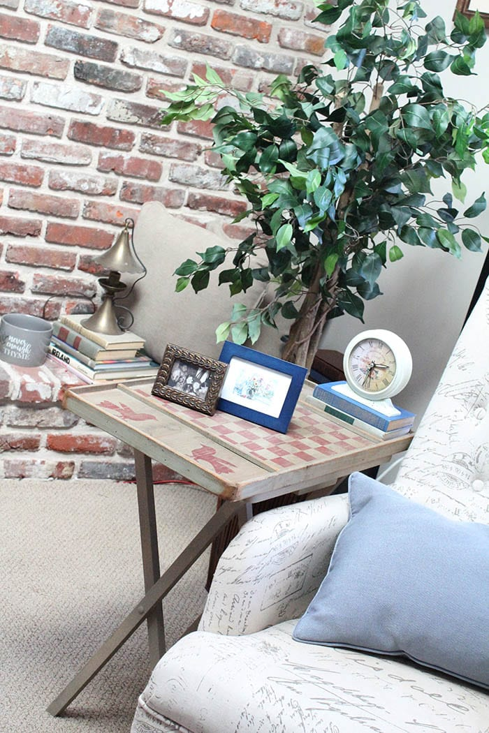 Easy DIY TV Tray Table Makeover