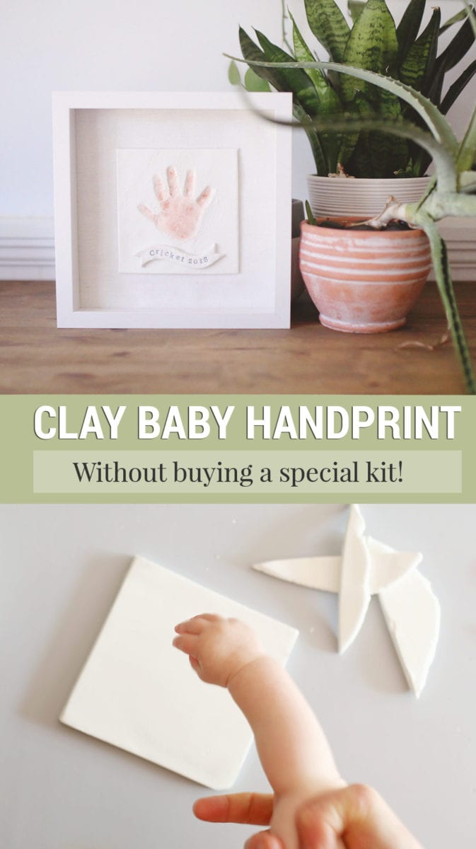 Clay Baby Handprint Art Keepsake