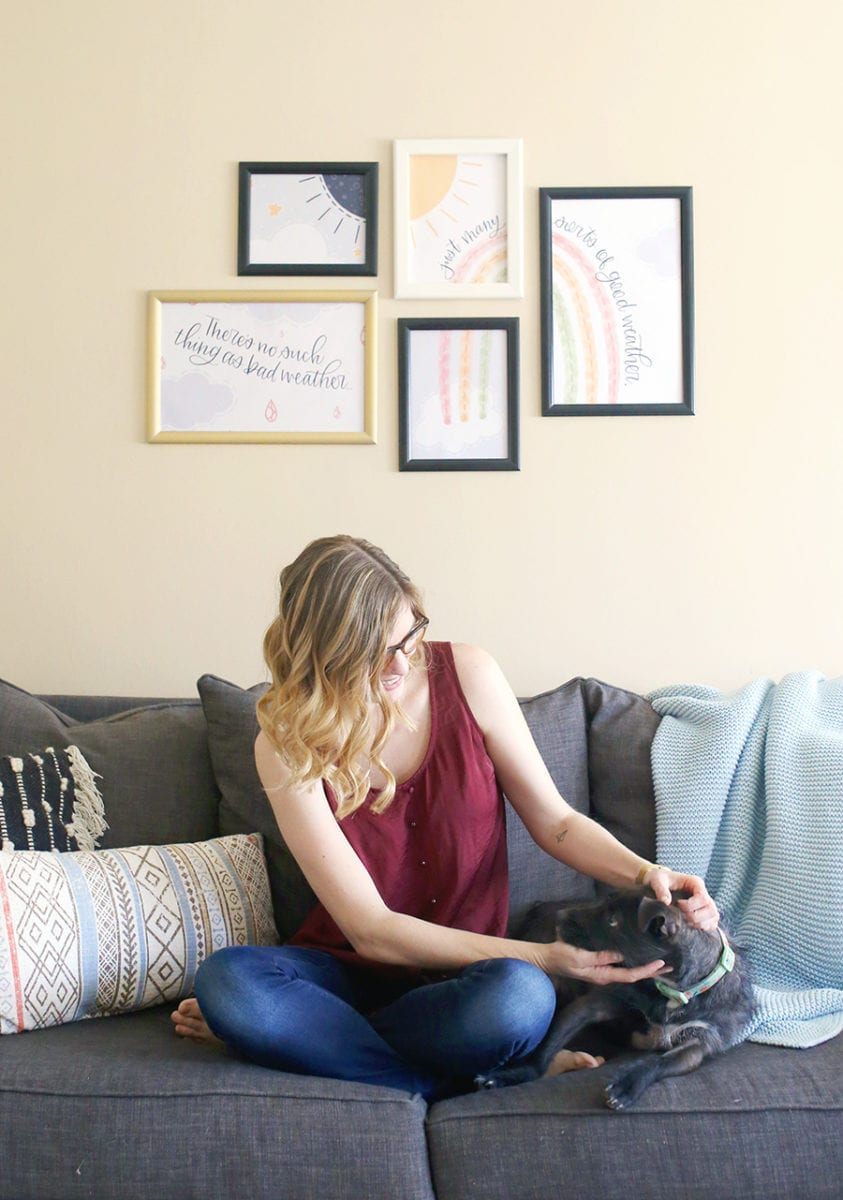 Free Printable Wall Art & My Trick to Create a Gallery Wall in Minutes