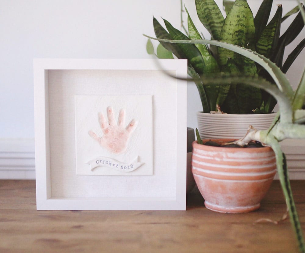 DIY Baby Handprint Keepsake Ornament or Frame