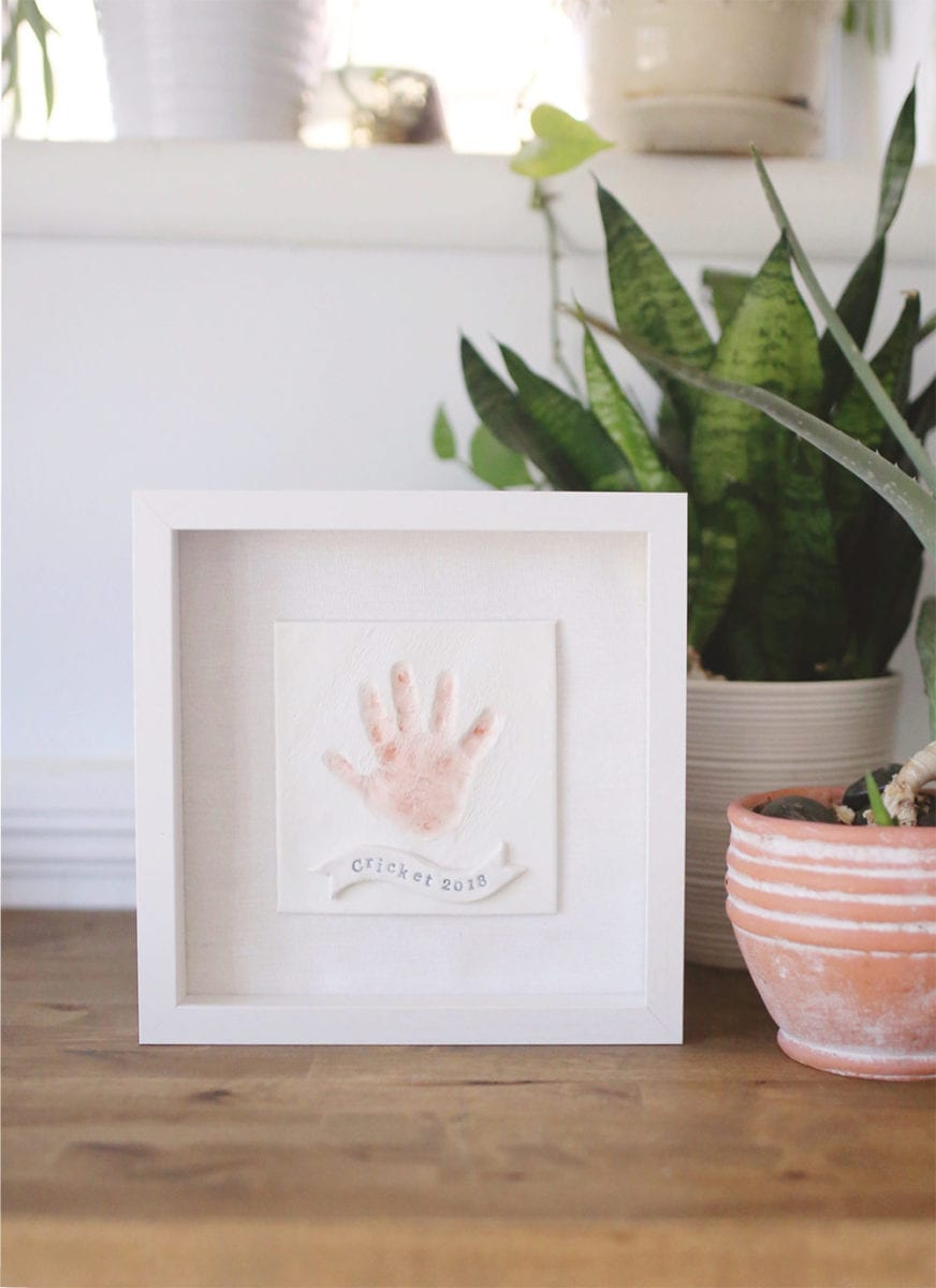 DIY Baby Clay Handprint Keepsake
