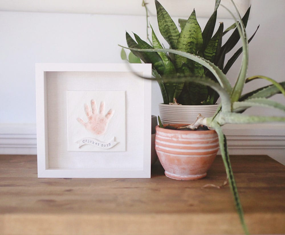 DIY Baby Handprint Keepsake Frame