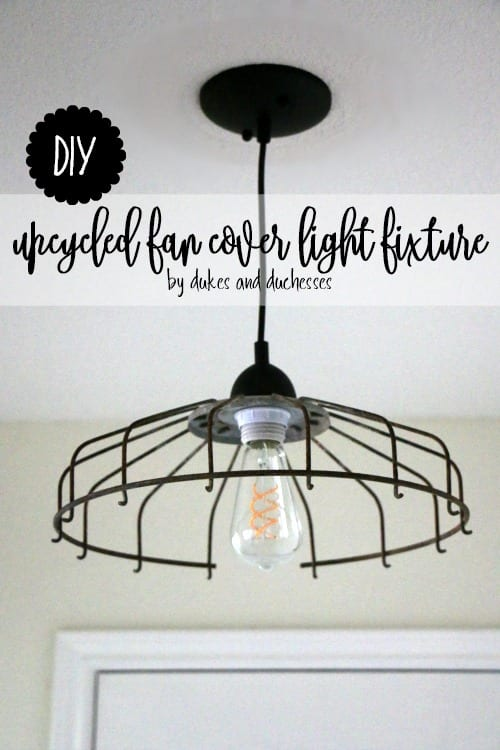 DIY Upcycled Fan Cover Light Fixture