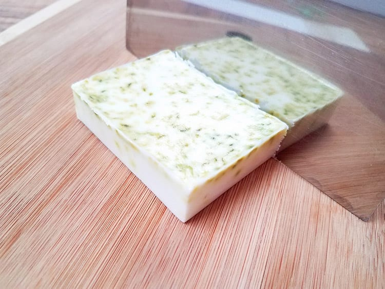 Cutting the Finished Fresh Lime Coconut Soap Recipe