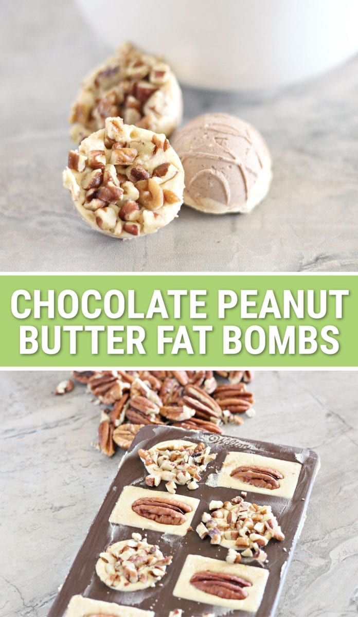 Easy Chocolate Peanut Butter Fat Bomb Recipe with Pecans