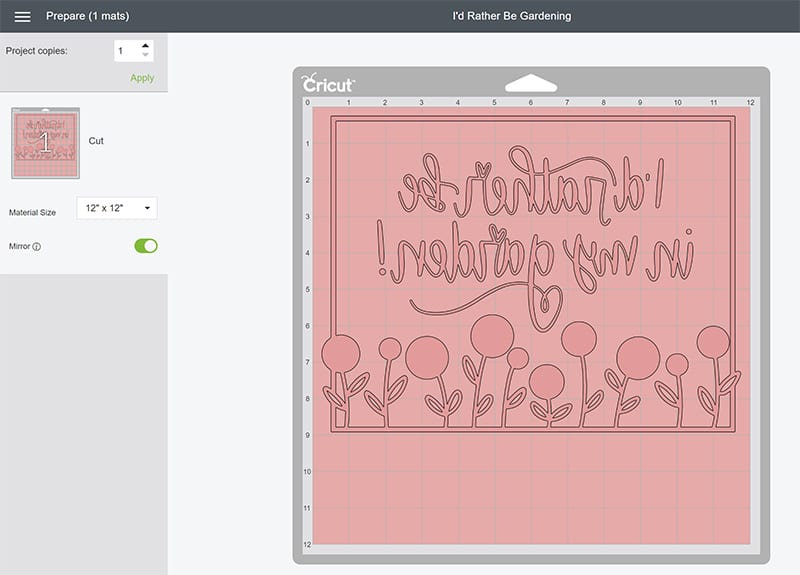Explore Air 2 Cut Settings for Cricut Infusible Ink
