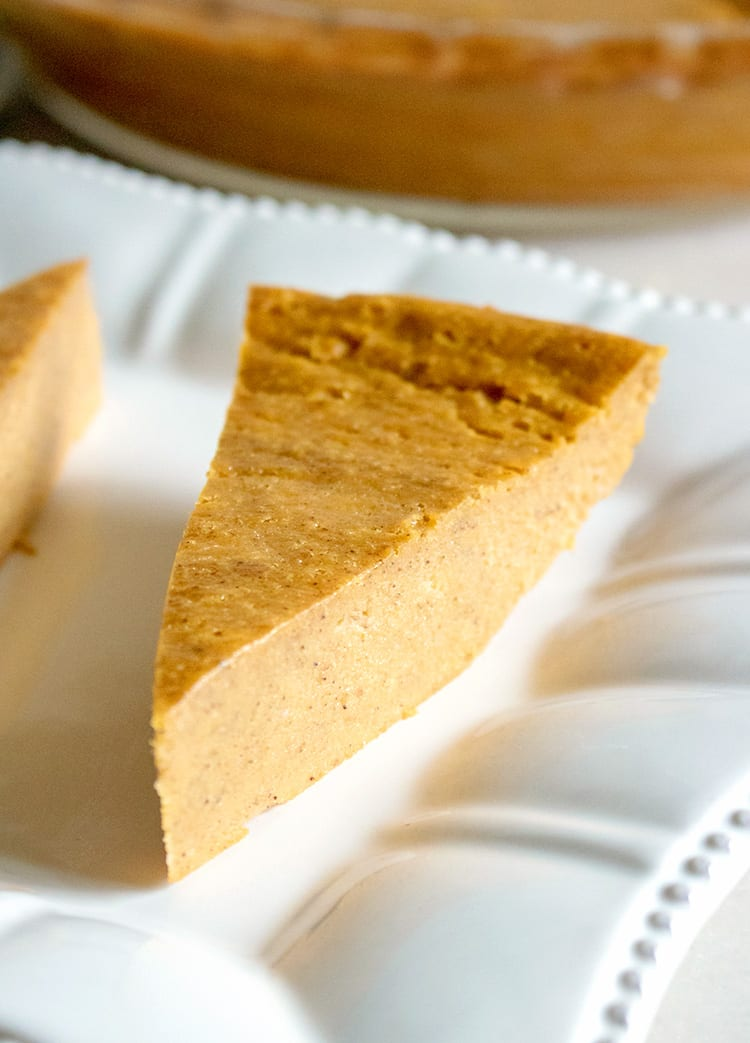 All Natural No Crust Pumpkin Pie Recipe
