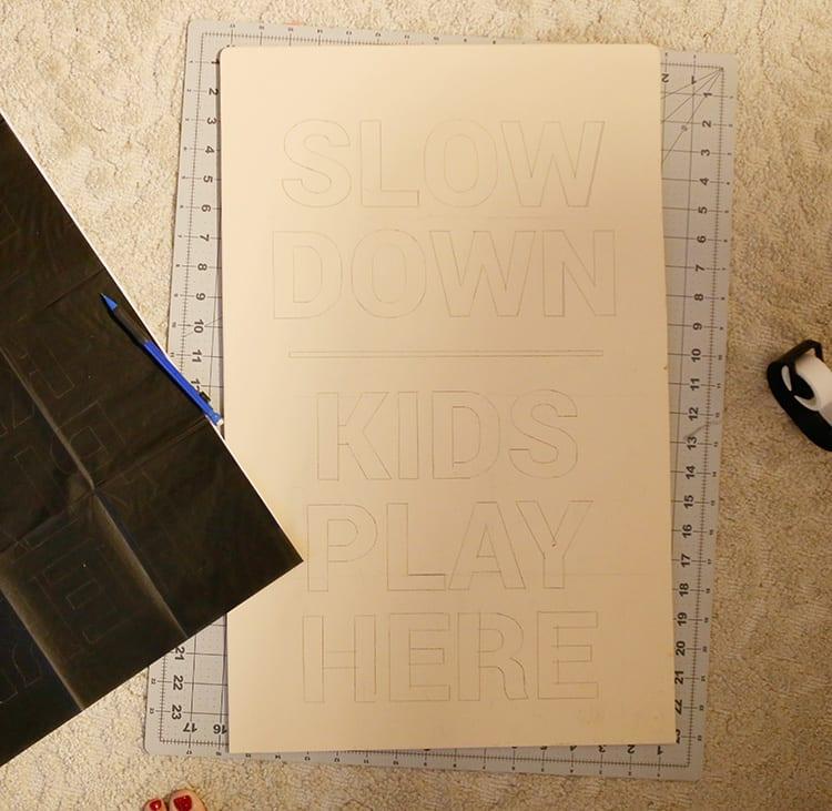DIY Wood Frame Sign - Step 7