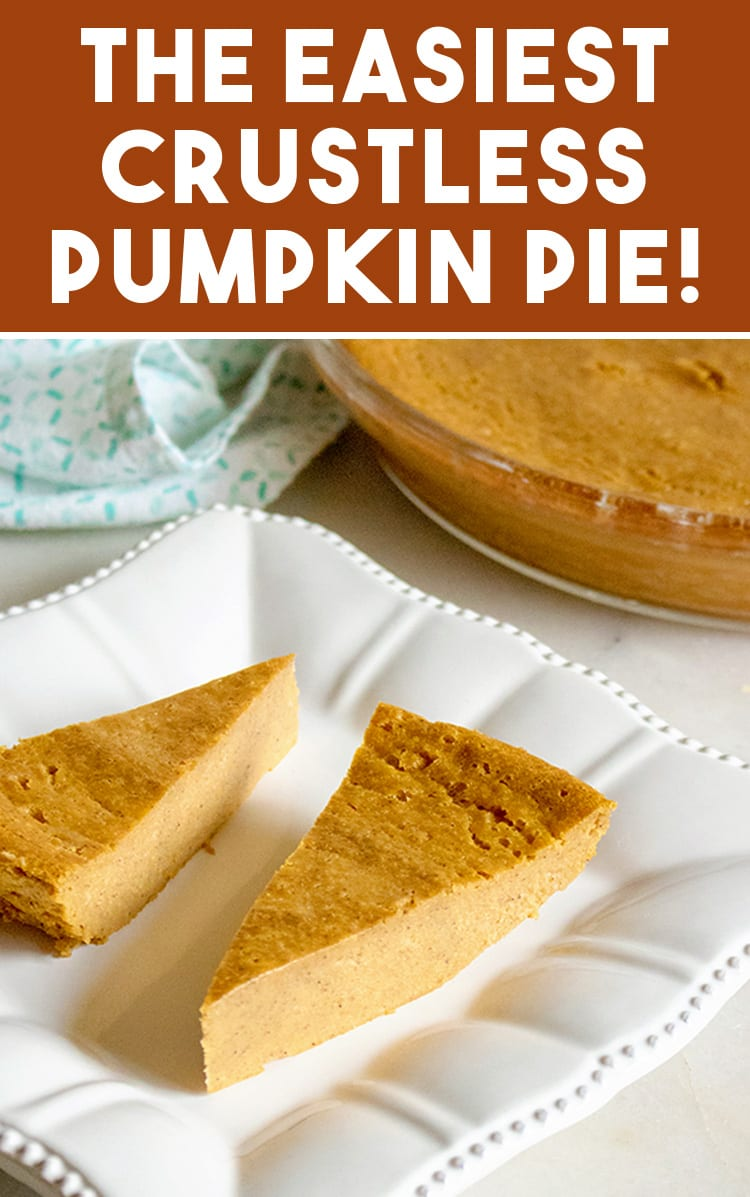 Easy Gluten Free Crustless Pumpkin Pie Recipe