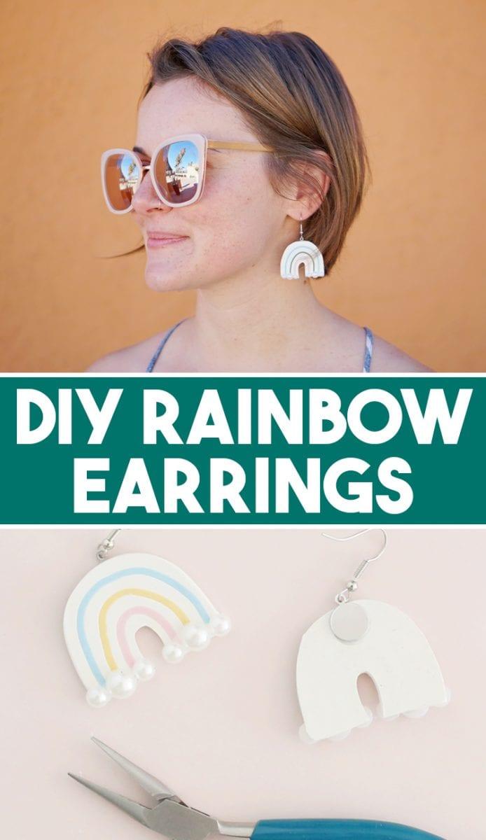 How to Make Rainbow DIY Polymer Clay Earrings