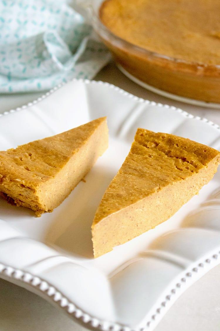 Pumpkin Pie With No Crust