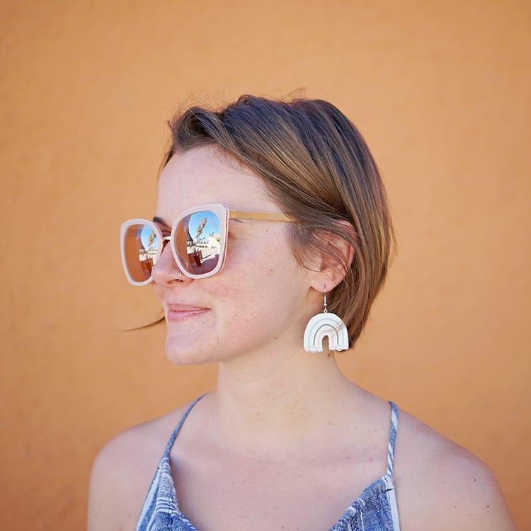 Rainbow DIY Polymer Clay Earrings Tutorial