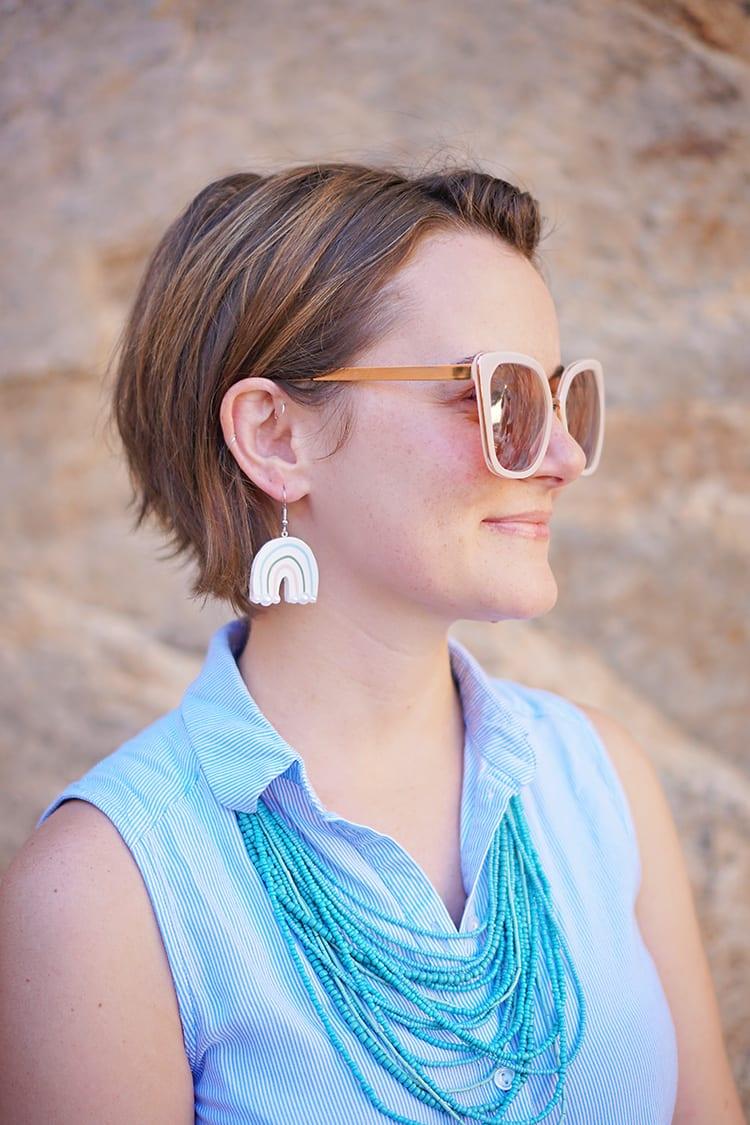 Rainbow DIY Polymer Clay Earrings