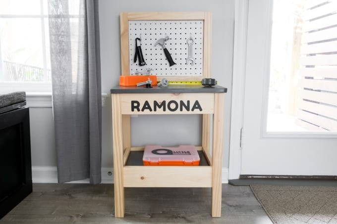 DIY Kids Workbench Build Plans: Build a Play Workbench for Toddlers