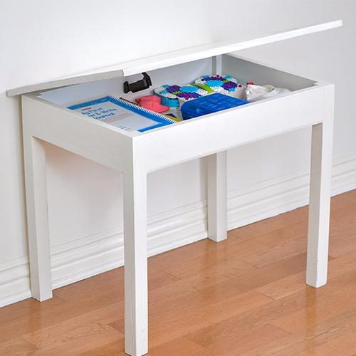 DIY Kids Table with Storage