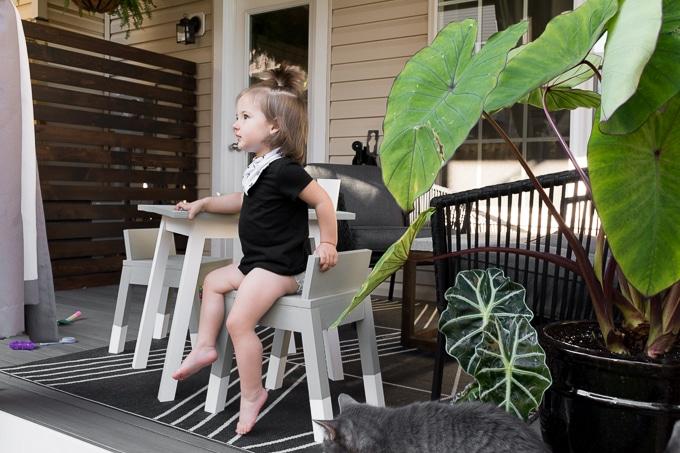 Modern Outdoor Kids Table Build // KidKraft-Inspired DIY Kids Furniture