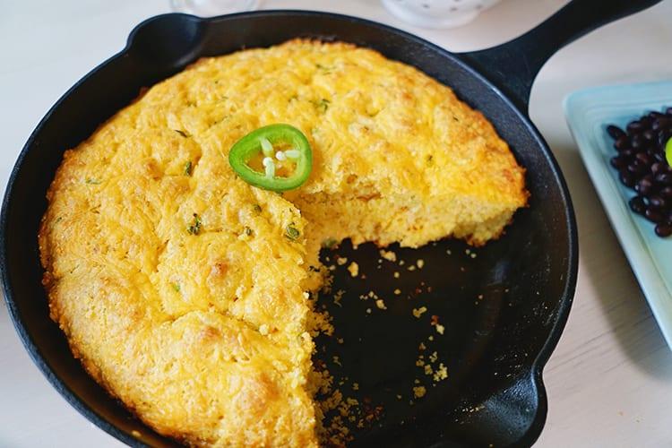 Cast Iron Skillet Jalapeño Cheddar Cornbread Recipe 6