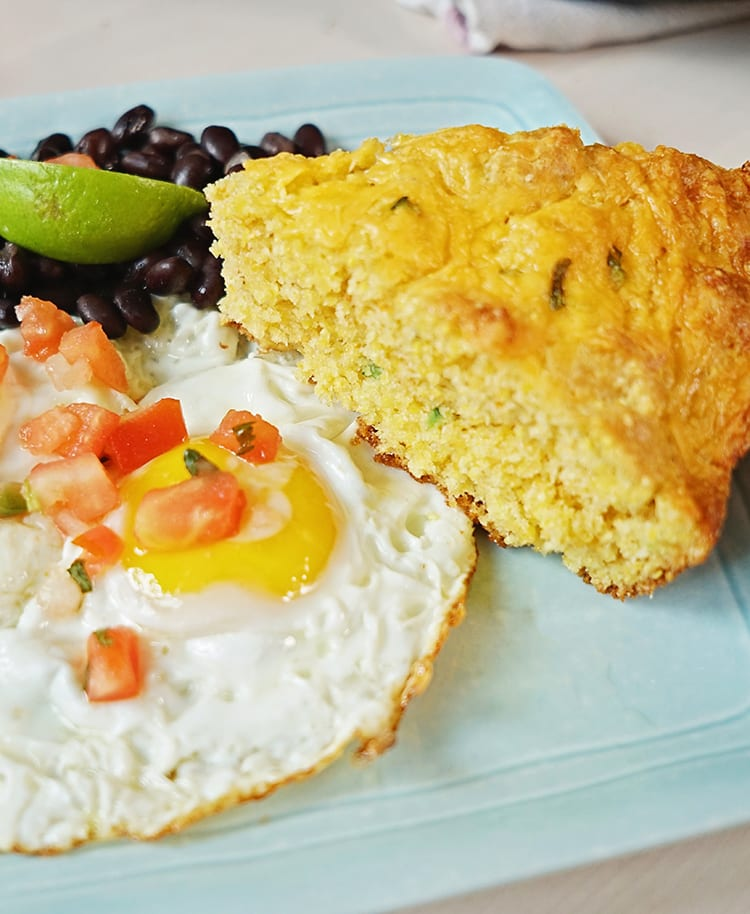 Cast Iron Skillet Jalapeño Cheddar Cornbread Recipe for Brunch