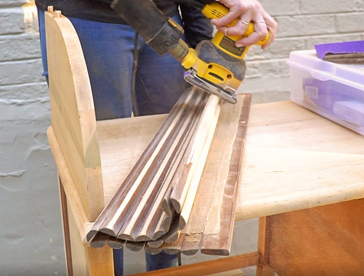 How to Fix a Roll Top Desk Tambour with Sanding