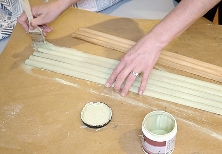 How to Paint a Roll Top Desk Tambour