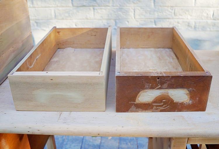 Refinishing Vintage Furniture Drawers