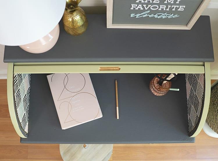 Vintage Roll Top Desk Makeover - After 2