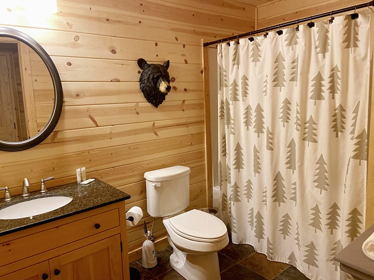 Cabin Bathroom for Kids