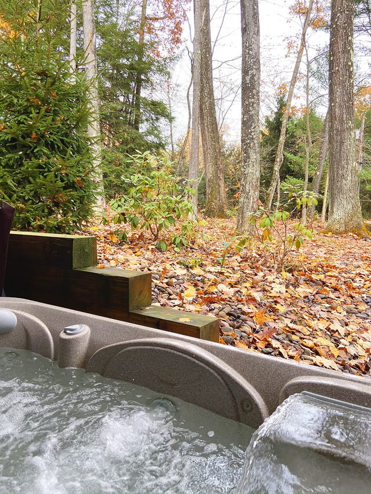 Hot Tub at Good Time Pine Cabin at Deep Creek Lake