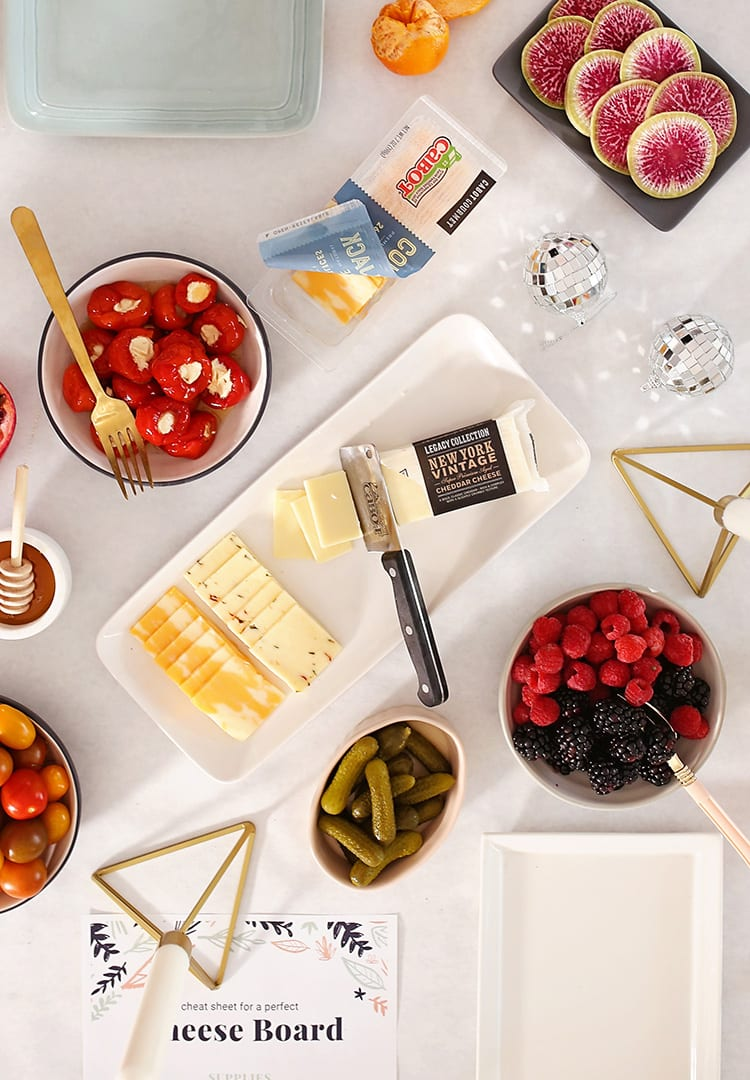 New Years Party Cheese Platter Appetizer Ideas