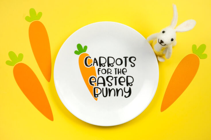 Carrots for the Easter Bunny Plate with the Cricut