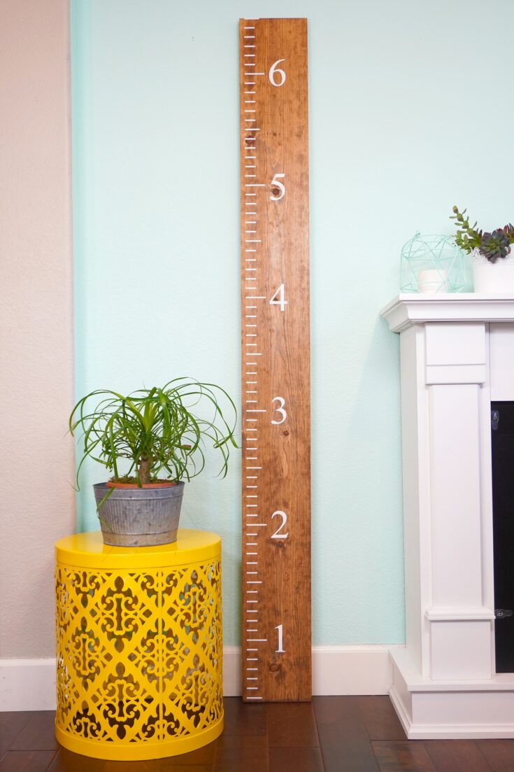 DIY Wooden Ruler Growth Chart + Free SVG File