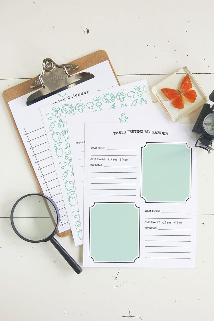 Free Printable DIY Kids Garden Journal