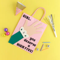 DIY High Five Gift Bag