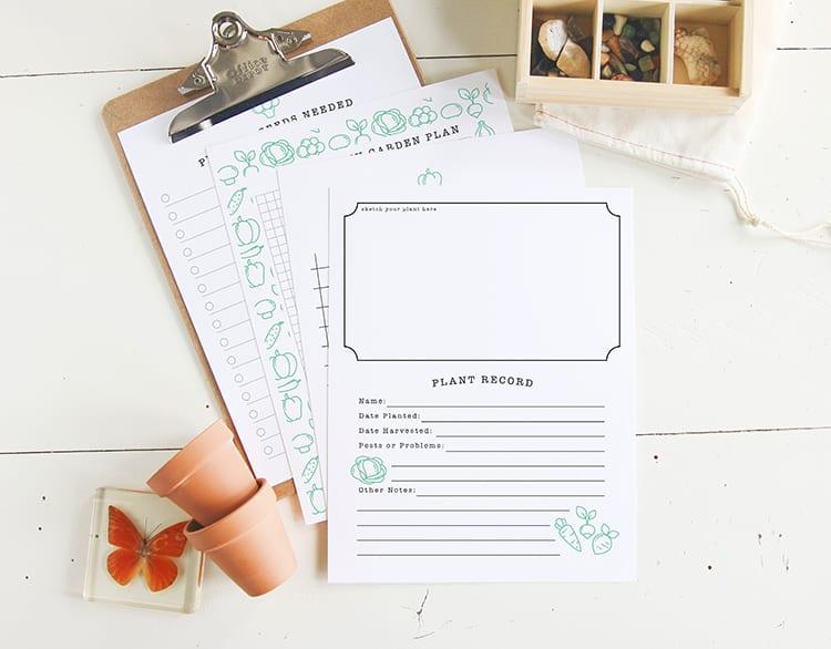Printable DIY Kids Garden Journal