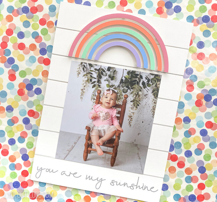 How to Make a Rainbow Picture Frame