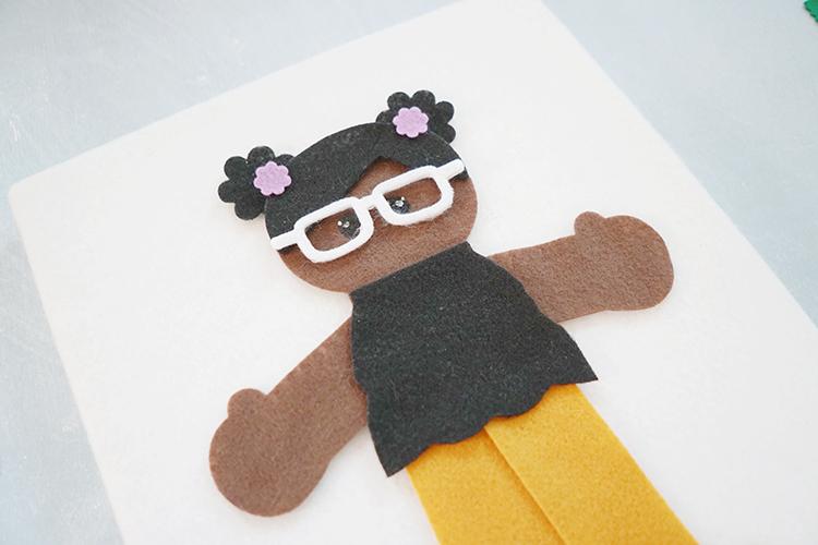 DIY Black felt doll