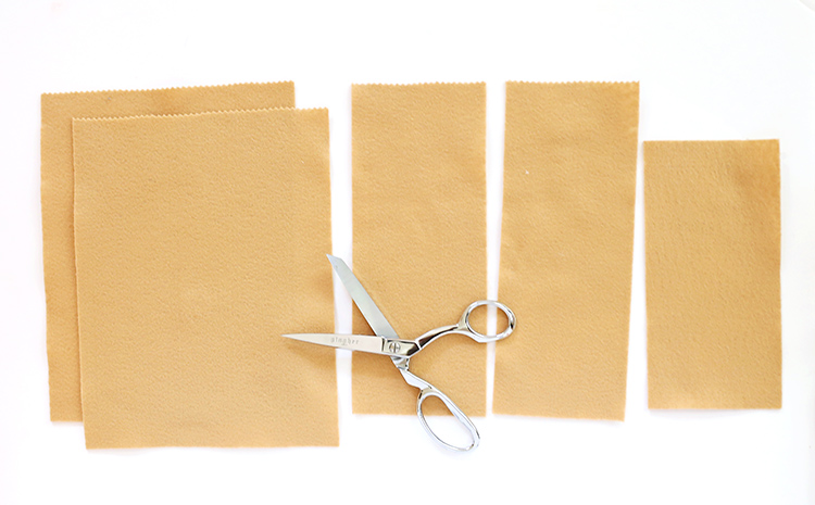 Use Pinking Shears to Cut a Zigzag into the Top of the Felt to Make Play Grocery Shopping Bags